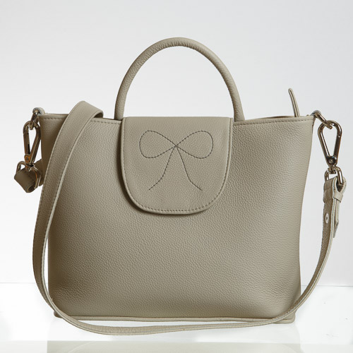 Beige compact tote-4575