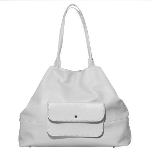 Soft unlined leather shopper
