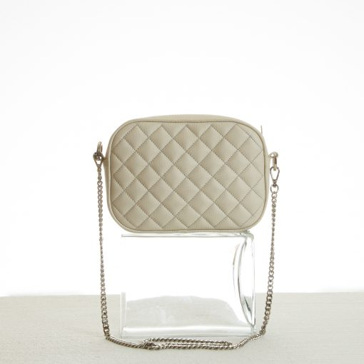 Quilted mini shoulder bag with chain strap