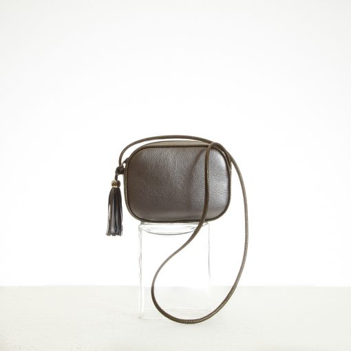 Mini metallic leather shoulder bag