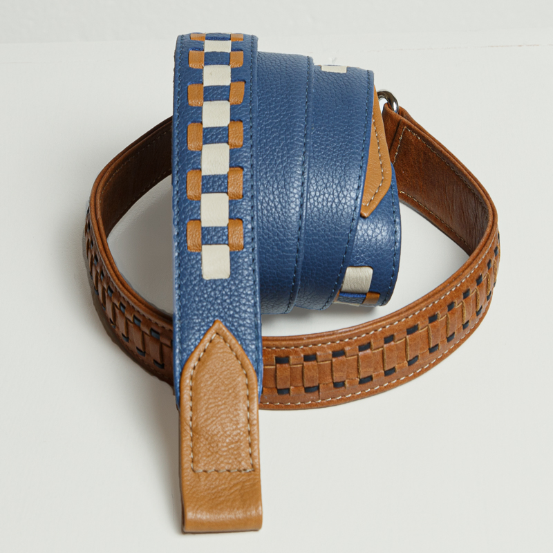 Interchangeable decorated leather handbag straps